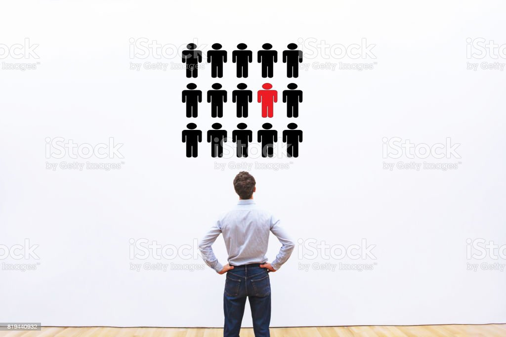 human resources management concept stock photo