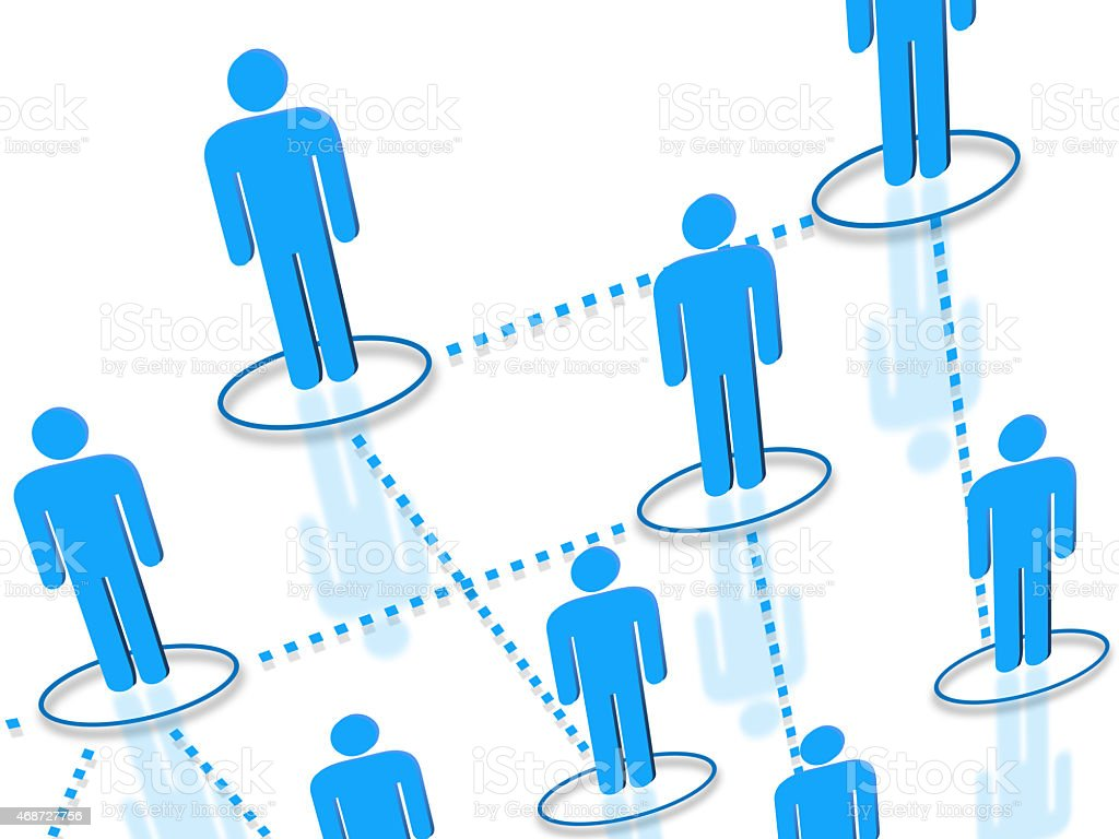 Human resources network icons concept stock photo