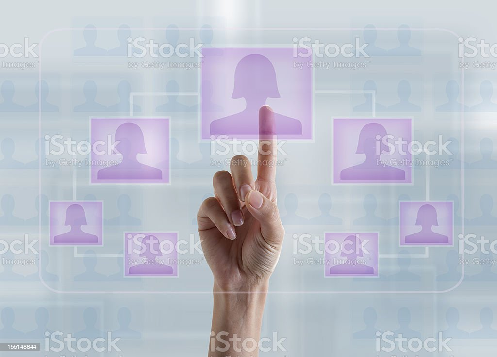 Human Resource-Woman in Charge stock photo