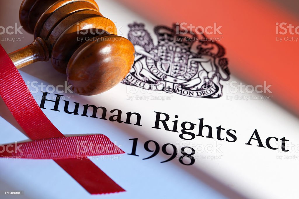 Human Rights Act UK 1998 stock photo