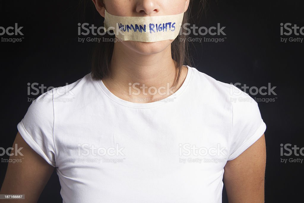 Human Rights Concept stock photo