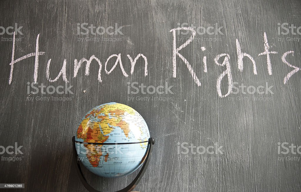 Human Rights theme royalty-free stock photo