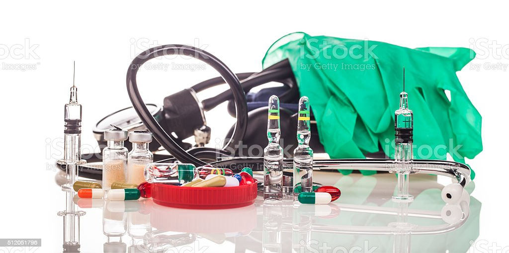human scull medicines and drugs stock photo