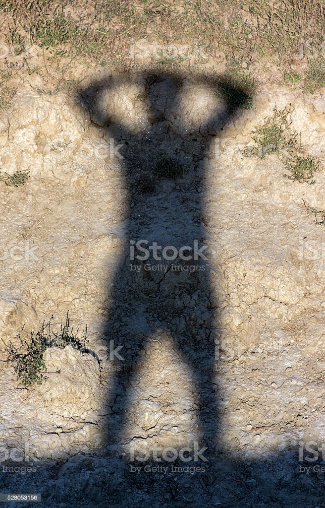 Human shadow stock photo