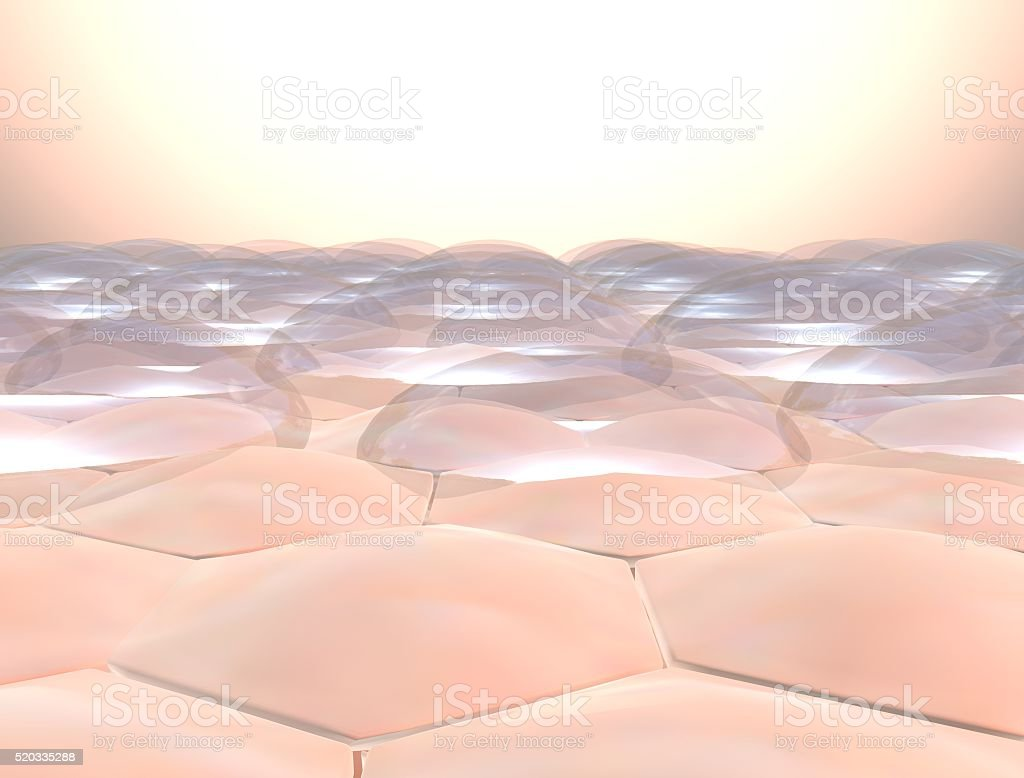 human skin closeup with water drop stock photo