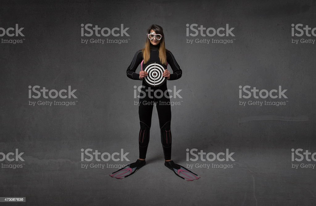 human target with immersion uniform stock photo