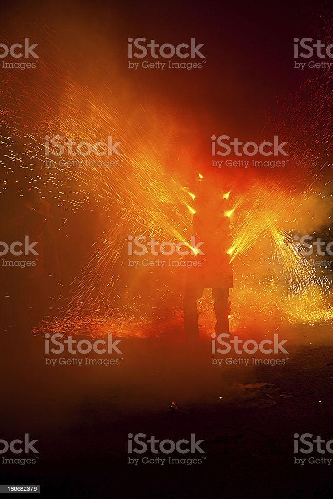 Human torch stock photo