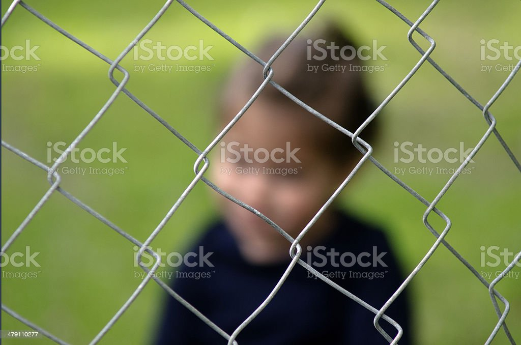 Human Trafficking of Children - Concept Photo stock photo