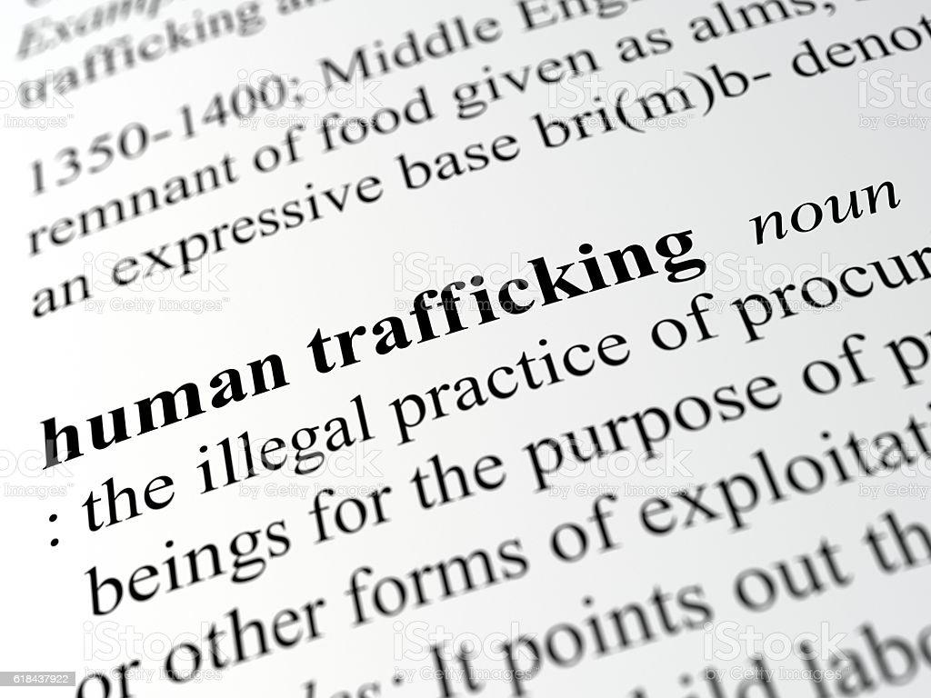 human trafficking stock photo