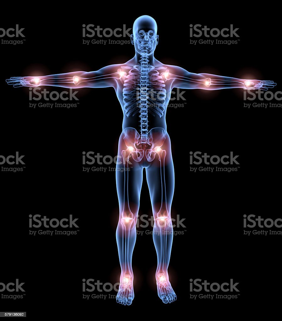 Human under the x-rays stock photo