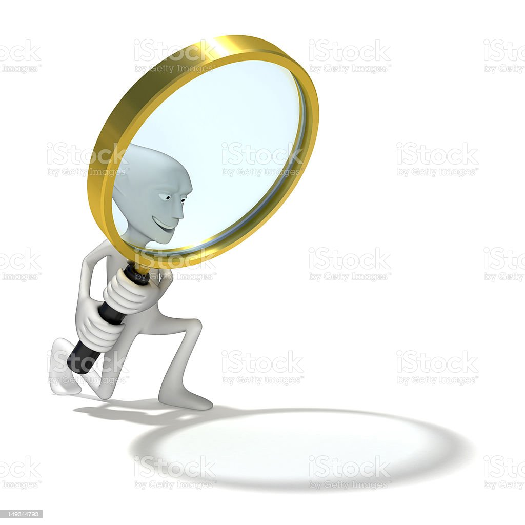 Human with looking glass royalty-free stock photo