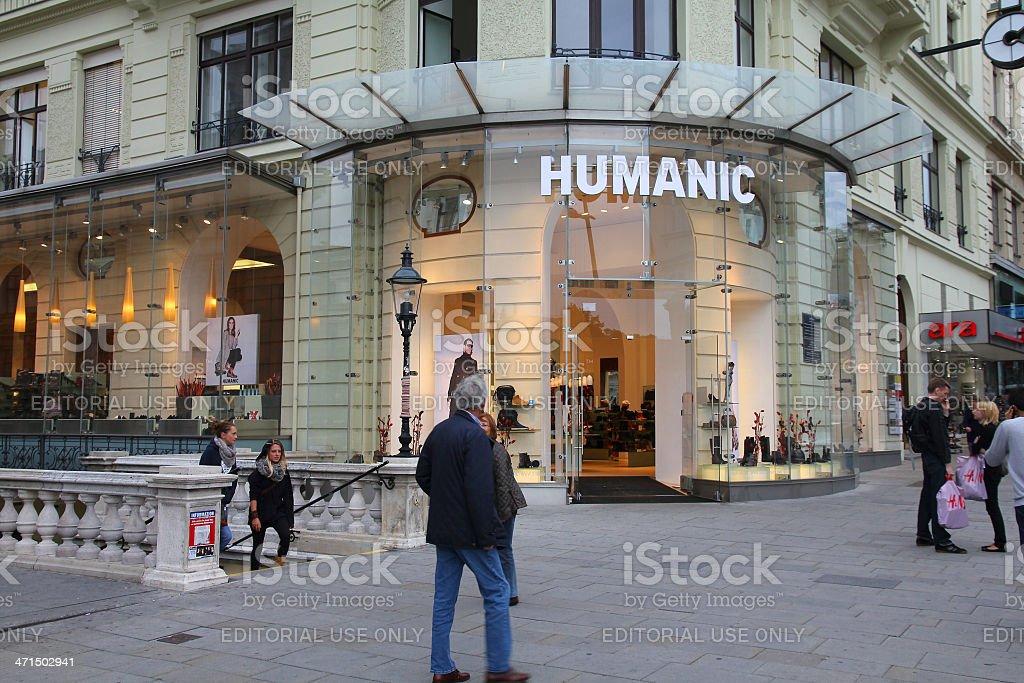 Humanic shoe store stock photo
