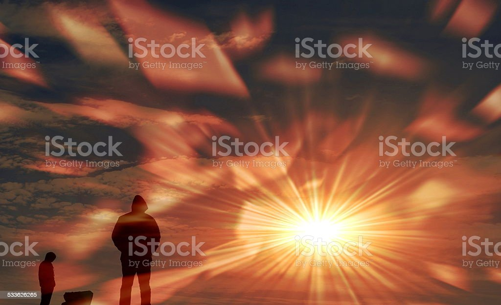 Humanity abstract background stock photo
