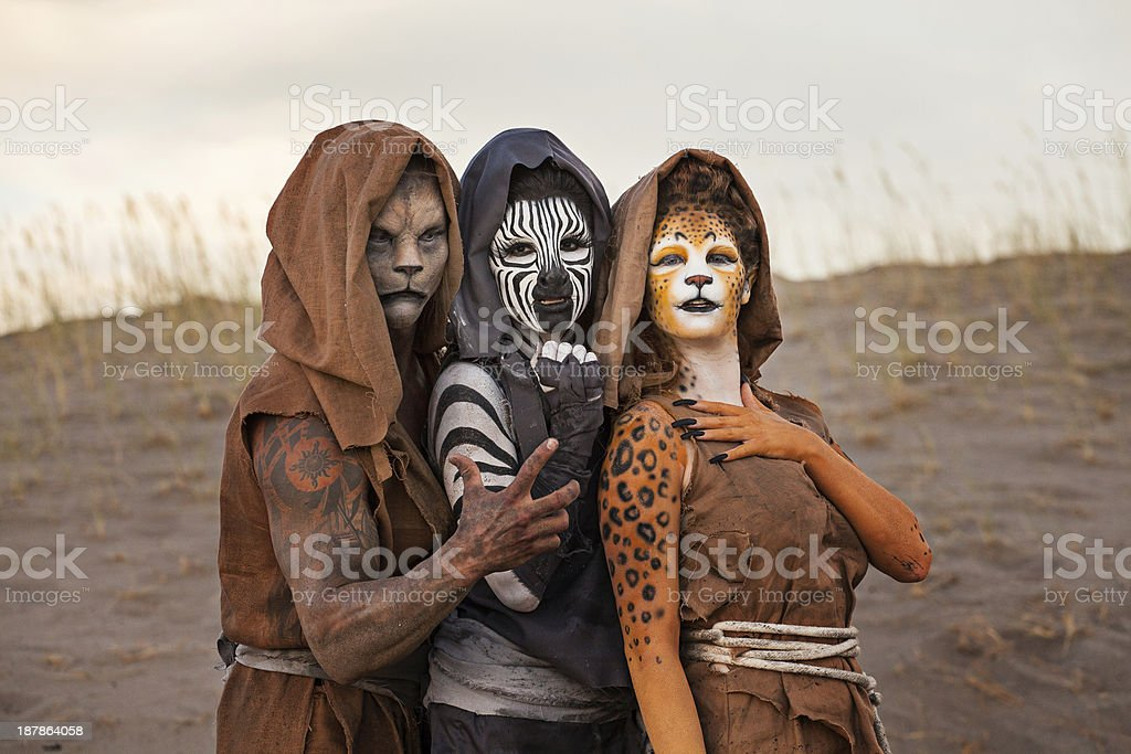 Humanoids in the Desert royalty-free stock photo