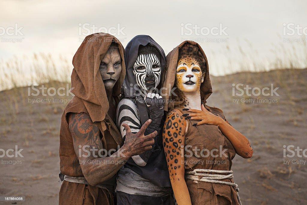 Humanoids in the Desert stock photo
