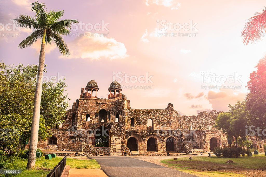 Humayun Gate (Southern Ramparts), Purana Qila, Delhi - CNGLTRV1109 stock photo