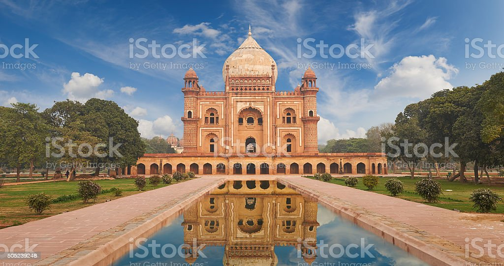 Humayun Tomb New Delhi, India. stock photo