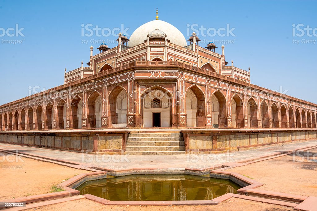 Humayun Tomb, New Delhi stock photo
