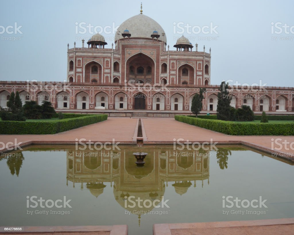 Humayun Tomb of New Delhi, India stock photo