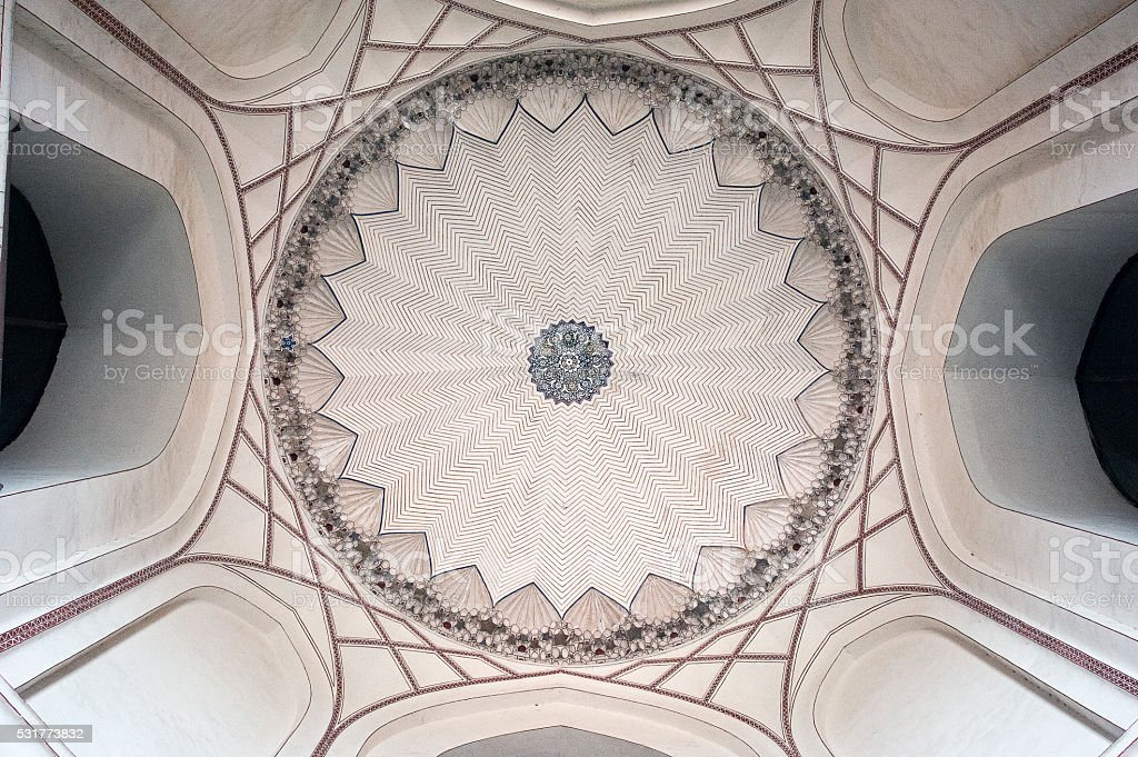 Humayun's tomb ceiling, Delhi stock photo