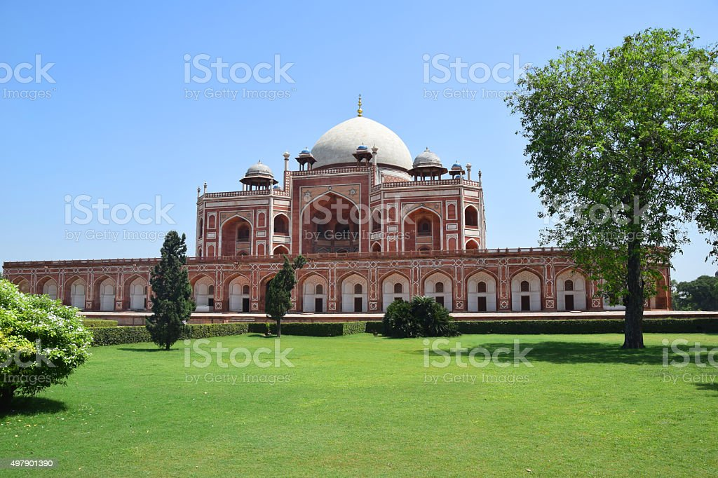 Humayun's Tomb Delhi, India stock photo