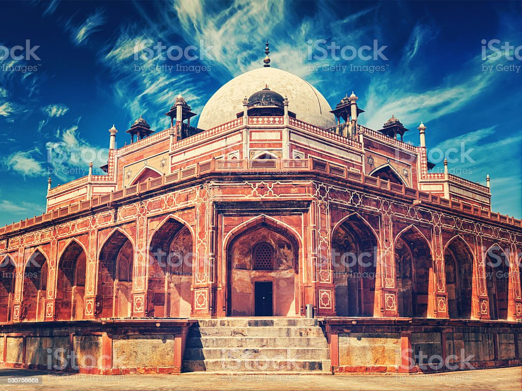 Humayun's Tomb. Delhi, India stock photo