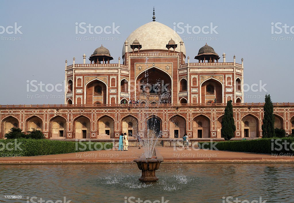 Humayun's Tomb, Delhi royalty-free stock photo