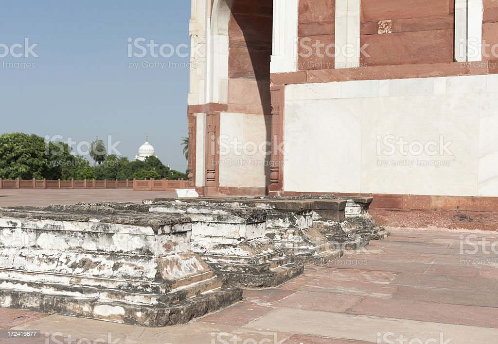 humayun's tomb in Delhi royalty-free stock photo