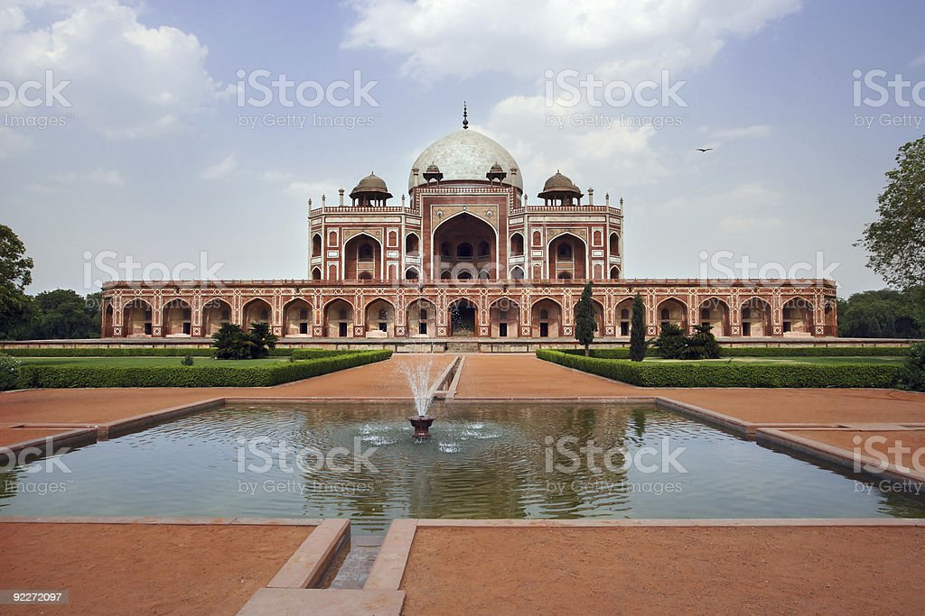 Humayun's Tomb in India royalty-free stock photo