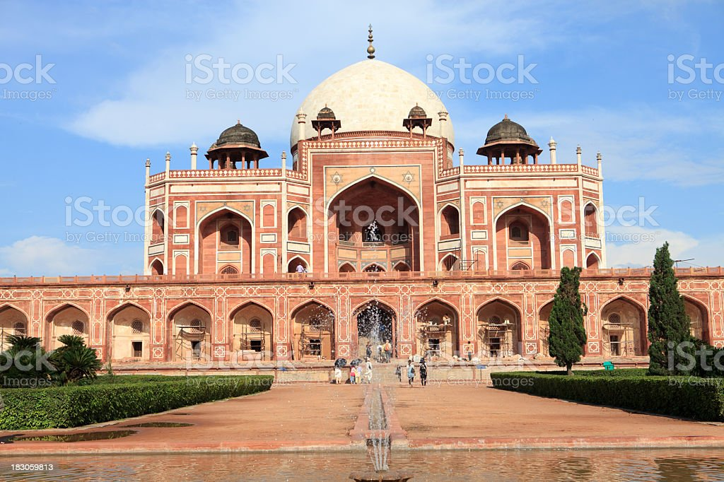 Humayuns tomb in New Delhi, India on a clear day stock photo
