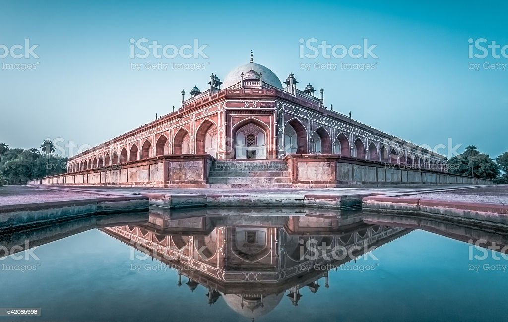 Humayun's Tomb- New Delhi stock photo