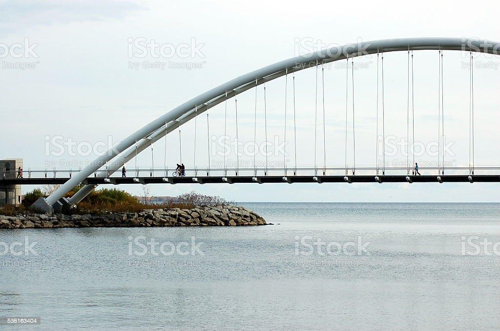 Humber Bay Arch Bridge stock photo