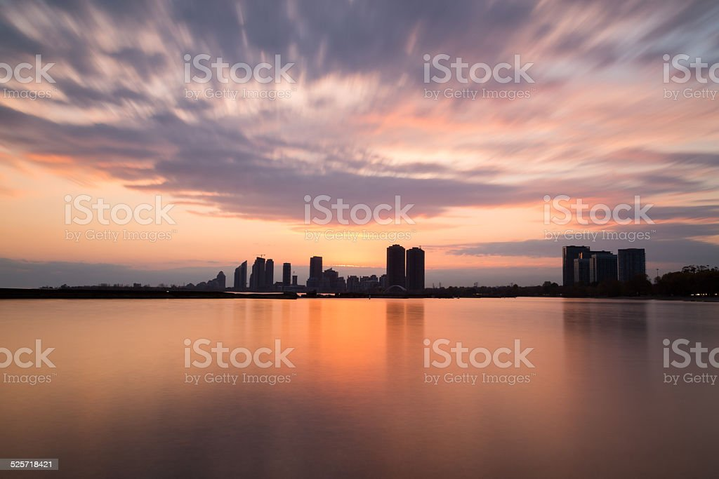 Humber Bay at Sunset stock photo