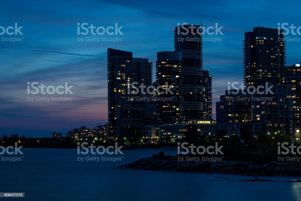 Humber Bay in Dusk stock photo