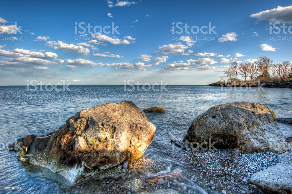 Humber Bay Rocks stock photo