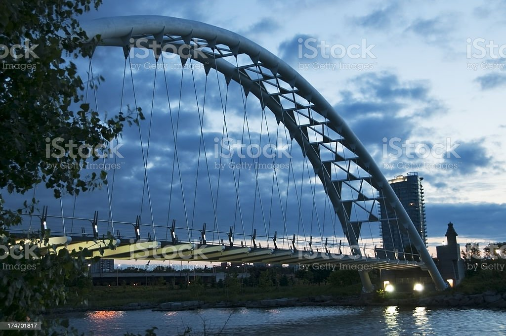 Humber Bridge at Dawn Toronto Ontario Canada royalty-free stock photo