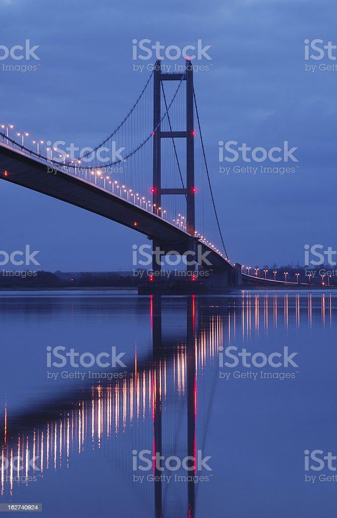 Humber Bridge at Night stock photo