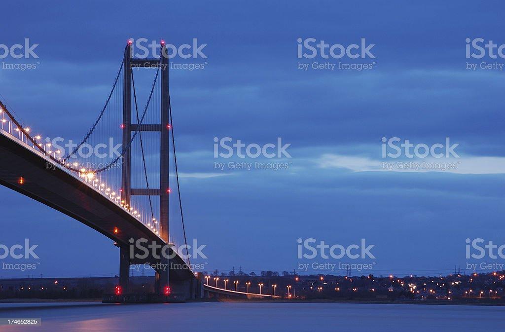 Humber Bridge at Twilight stock photo