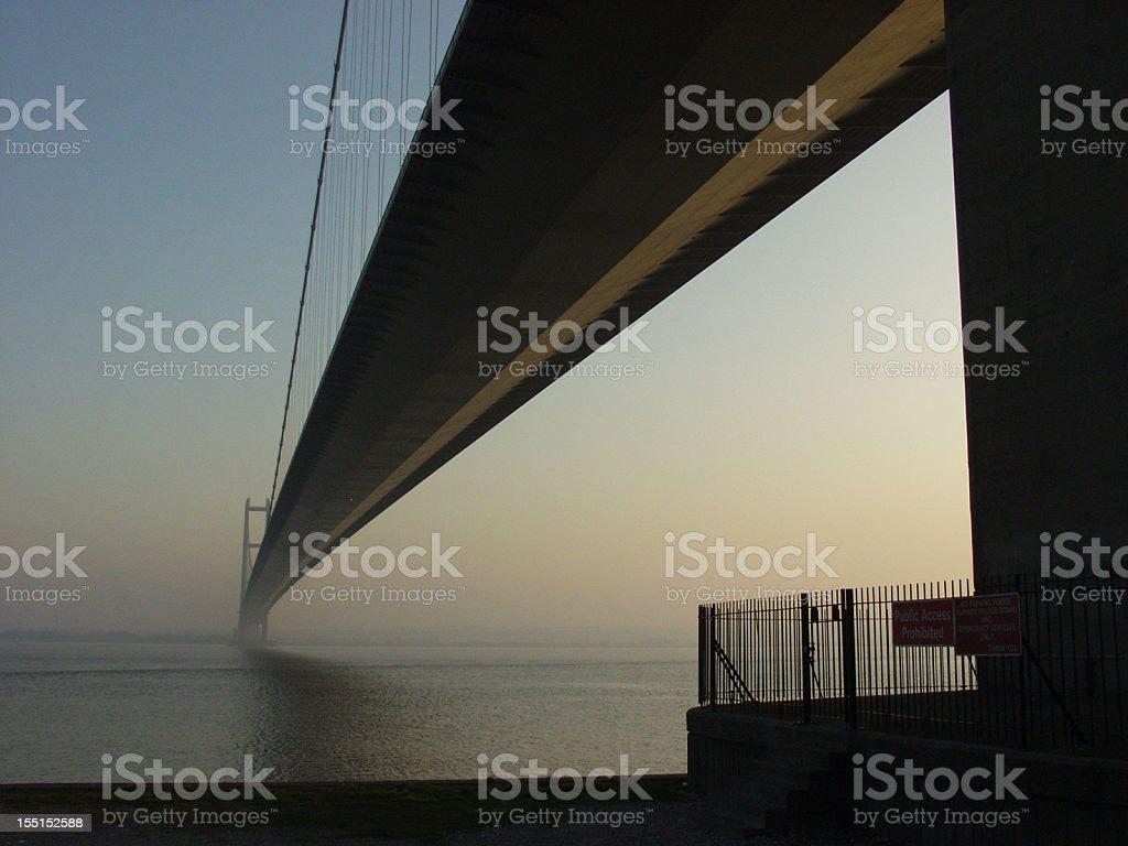 Humber Bridge, Early Evening stock photo
