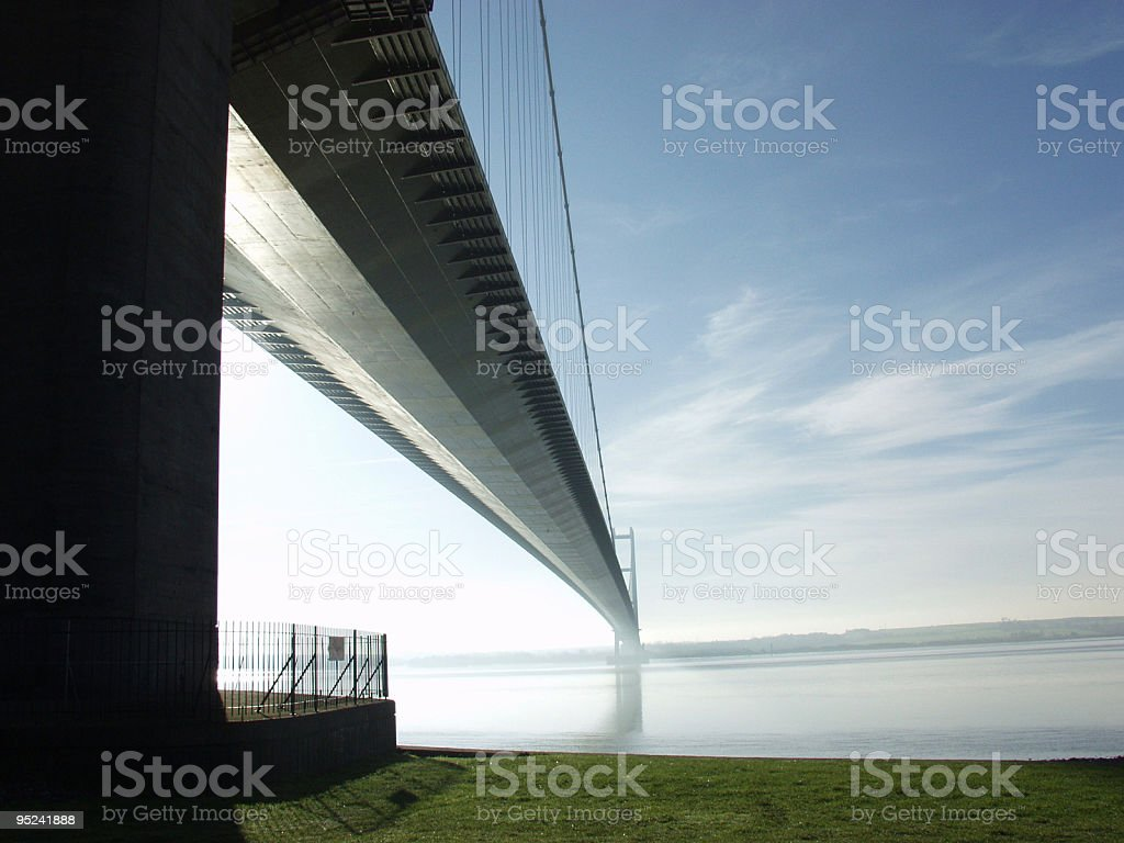 Humber Bridge, East Yorkshire, England royalty-free stock photo
