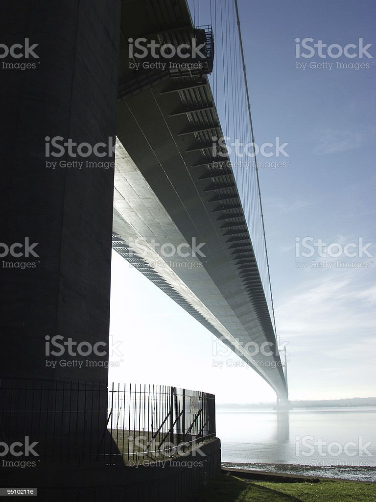 Humber Bridge, East Yorkshire, UK royalty-free stock photo