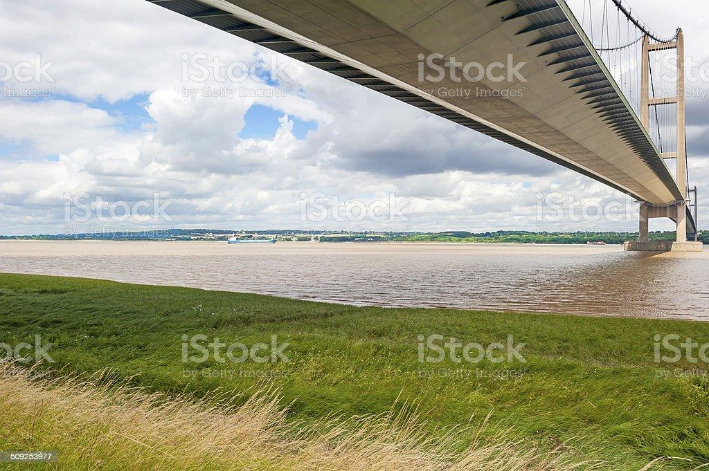 Humber Bridge from Barton stock photo