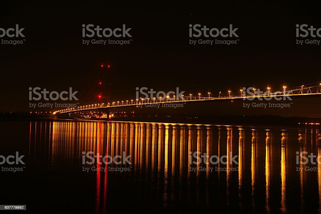 humber bridge, Hull stock photo