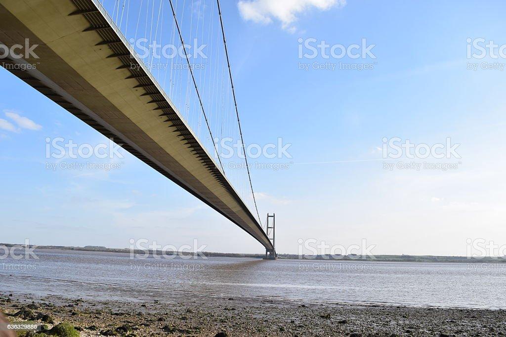 Humber Bridge in Spring stock photo