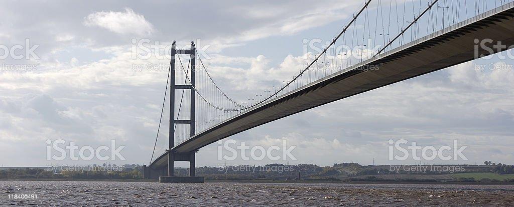 Humber Bridge Panoramic royalty-free stock photo