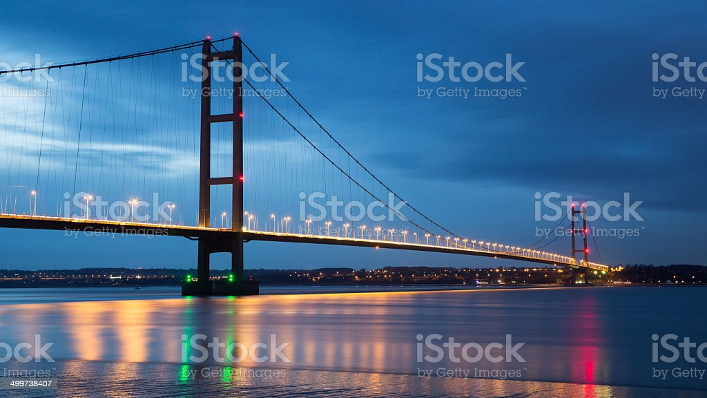 Humber bridge - Slow shutter stock photo