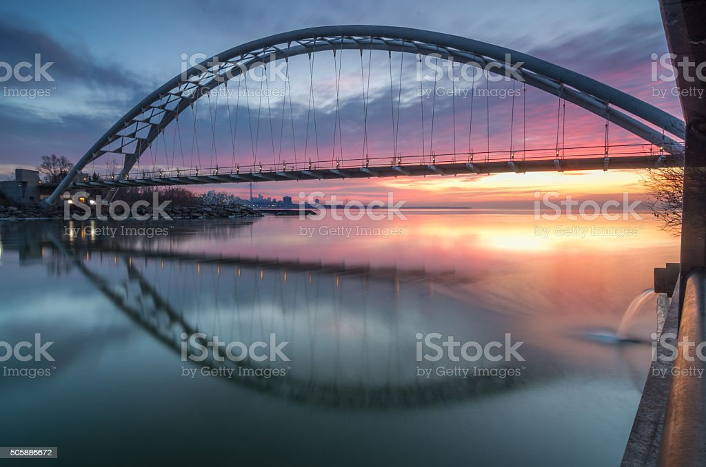 Humber Bridge Sunrise stock photo