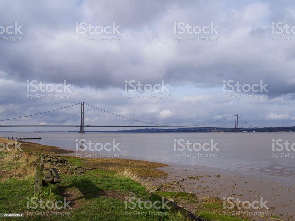 Humber Bridge View stock photo
