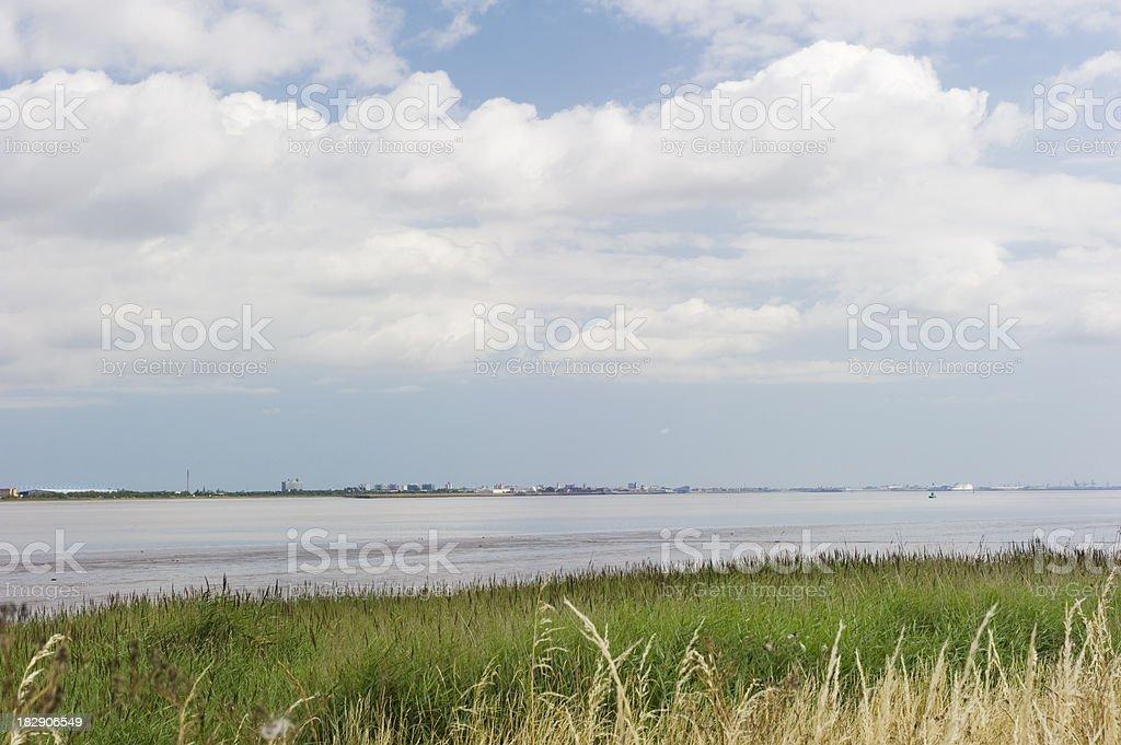 Humber Estuary royalty-free stock photo