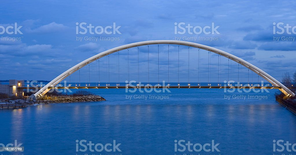 Humber River Bridge, Toronto, Canada stock photo